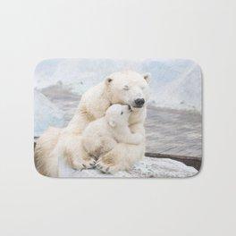 Polar Bear Love Bath Mat