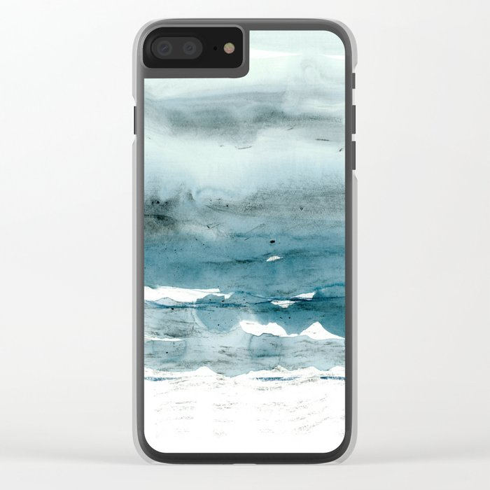 dissolving blues Clear iPhone Case