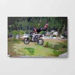 FMX Motocross Freestyle Stunt Rider Metal Print