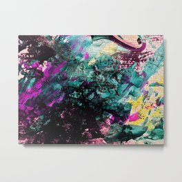 Textured Graffiti Print Metal Print