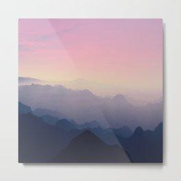 Foggy Mountains Metal Print