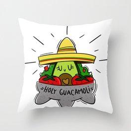 Holy Guacamoli Throw Pillow