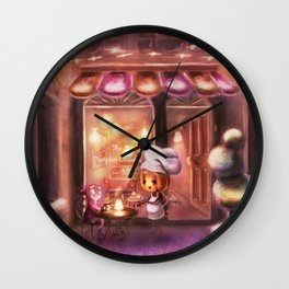 The Pumpkin Crumble - Pastry Bakery (Forever Halloween Collection) Wall Clock