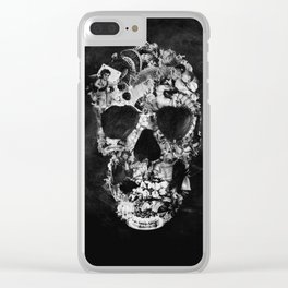 Vintage Skull BW Clear iPhone Case