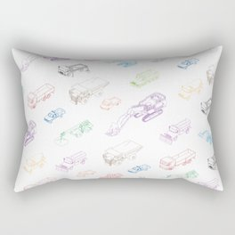 pattern with isometric icons of special equipment and machines Rectangular Pillow