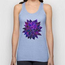 Violet Flower Unisex Tank Top