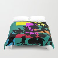 90s Duvet Covers featuring The 90s by Grace Billingslea