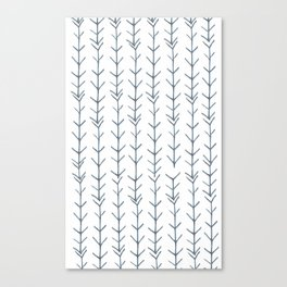 Twigs and branches freeform gray Canvas Print
