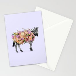 FLORAL ZEBRA Stationery Cards