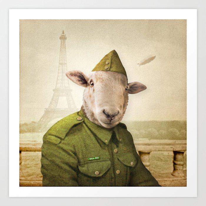 Private Leonard Lamb visits Paris Kunstdrucke
