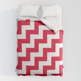 White and Crimson Red Steps RTL Comforters