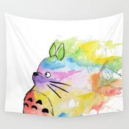 My Rainbow Totoro Wall Tapestry