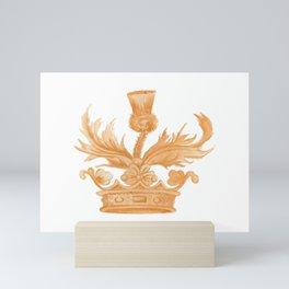 Watercolor Outlander Crown & Thistle Mini Art Print