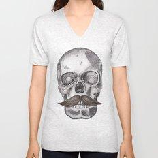 Skull Mustache Unisex V-Neck