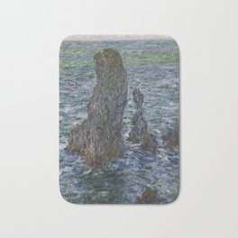 The 'Pyramids' of Port Coton, Belle-Ile-en-Mer Bath Mat