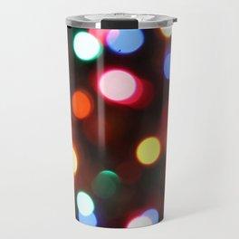 Colored Christmas Lights (2) Travel Mug