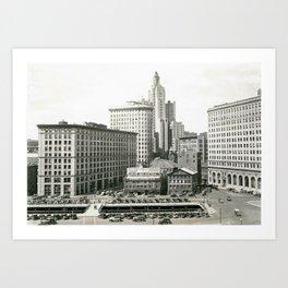 Downtown Providence, Providence, Rhode Island Art Print