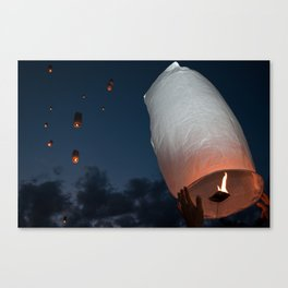 Letting Go - Paper Lanterns Canvas Print