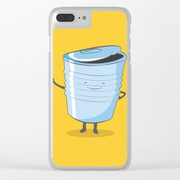 Tin Can Man Clear iPhone Case