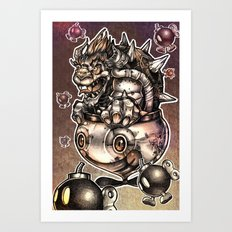 BOMBS AWAY BOWSER Art Print