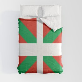 Flag of Euskal Herria-Basque,Pays basque,Vasconia,pais vasco,Bayonne,Dax,Navarre,Bilbao,Pelote,spain Comforters