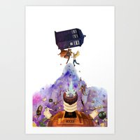 doctor who Art Prints featuring Doctor Who by Anthony Wallace