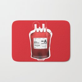 My Blood Type is A, for Awesome! *Classic* Bath Mat
