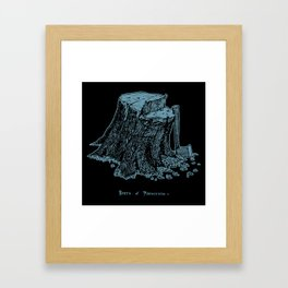Birth of Pinocchio (black version) Framed Art Print