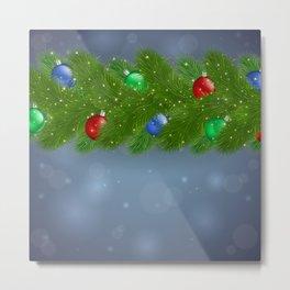 Christmas background Metal Print