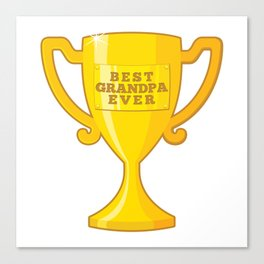 Best Grandpa Ever Canvas Print