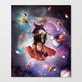 Space Sloth Riding Wolf Unicorn - Bacon & Taco Canvas Print