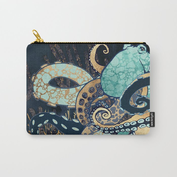 Metallic Octopus II Carry-All Pouch