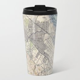 Old Map of Palo Alto & Silicon Valley CA (1943) Travel Mug