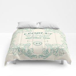 Vintage vector elegant frames and decor elements with text Comforters