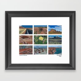 Arizona Postcards Framed Art Print