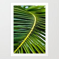 Magic green palm Art Print