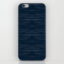 Meteor Stripes - Dark Denim iPhone Skin