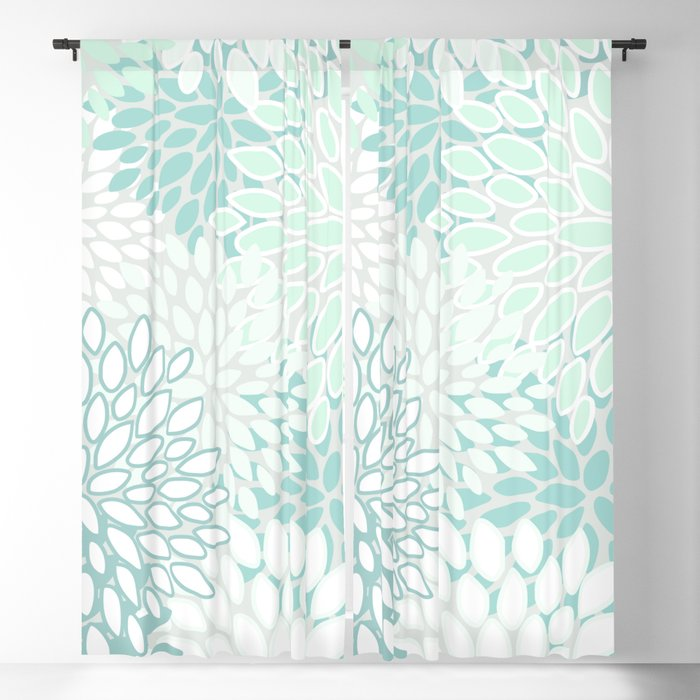 Fl Blooms Soft Teal And Mint