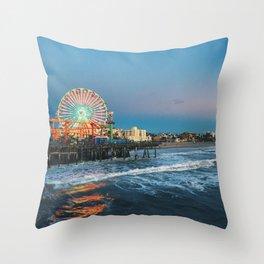 Wheel of Fortune - Santa Monica, California Throw Pillow