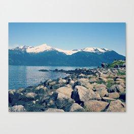 Rocky View | Mountain Landscape Photograph Canvas Print