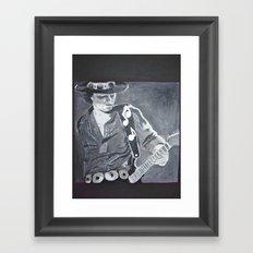 Stevie Ray Vaughan - Guitar Framed Art Print