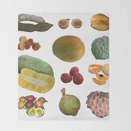 Exotic Fruit Collage Throw Blanket