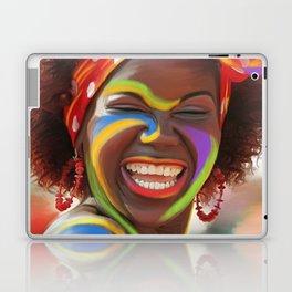 Life's a Carnival (Carnaval de Barranquilla) - Negrita Puloy Impressionism - Magical Realism Laptop & iPad Skin