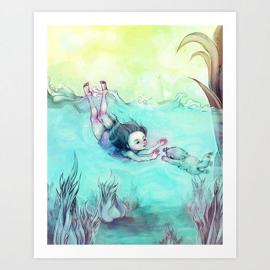 Sea Mermaid Art Print