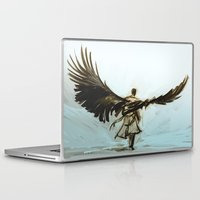 lonely Laptop & iPad Skins featuring A Lonely Road by Alice X. Zhang