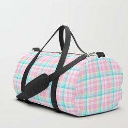 Spring Plaid 3 Duffle Bag