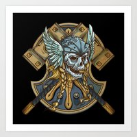 viking Art Prints featuring Viking by Spooky Dooky