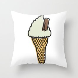 sOFFt set Ice cream Throw Pillow