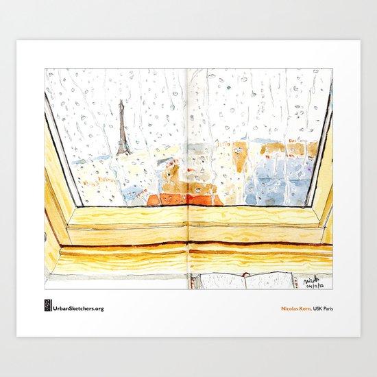 """Nicolas Kern, """"Pluie Velux"""" Art Print"""