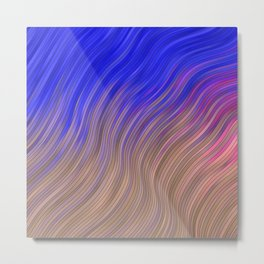 stripes wave pattern 2 with lines vmagi Metal Print